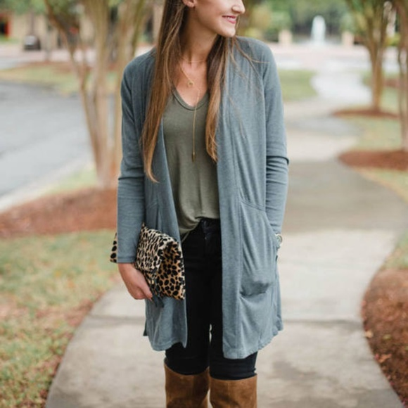 Lilla P Sweaters - Lilla P peached knit long sleeve duster cardigan